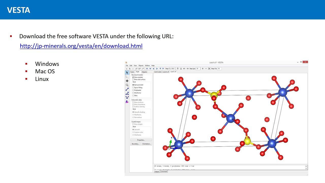 Unit 2 7 - The Software VESTA