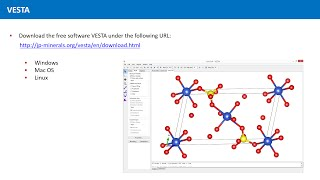 Unit 2.7 - The Software VESTA