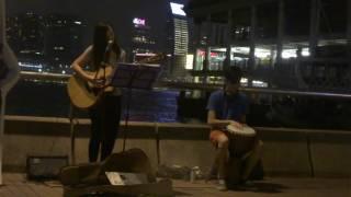 Shirleysy Music cover《經過一些秋與冬》@中環碼頭Busking 2016.10.15