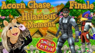 ABM: Animal Crossing Happy Festival!! *Acorn Chase* FINALE! (HD) SOLID SNAKE, MISS PIGGY & FALCO