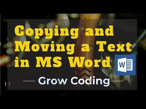 Copying and Moving a Text in MS Word