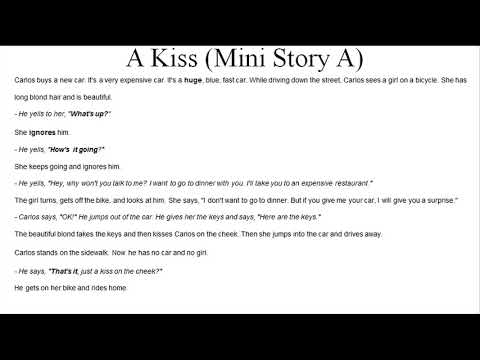 [Listen Practice] A Kiss    Text+Vocab+Mini story    Effort English