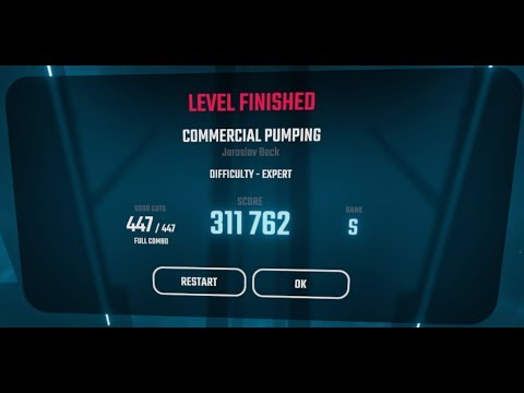 Beat Saber - COMMERCIAL PUMPING [EXPERT, S rank]