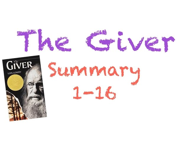 the giver chapter 1 summary Allison lindsey- chapter summaries 1-11  he had been referring to jonas as the receiver' the man replied the giver  allison lindsey- chapter.