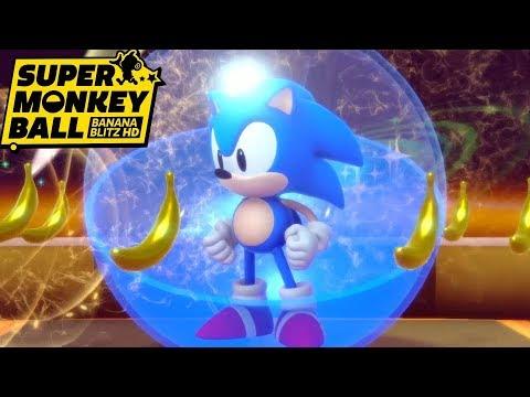 All 10 Worlds With Sonic - Super Monkey Ball Banana Blitz HD