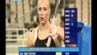 Nicole Kyriakopoulou pole vault NEW HELLINIC RECORD 4,70m (29-07-2011)