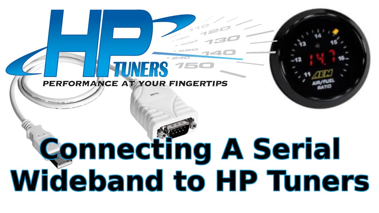 AEM Wideband Install Using A Serial Connection and HP Tuners