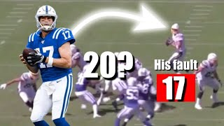 FILM ANALYSIS*** Phillip Rivers Interceptions in 2019. How Many Were His Fault? (278)