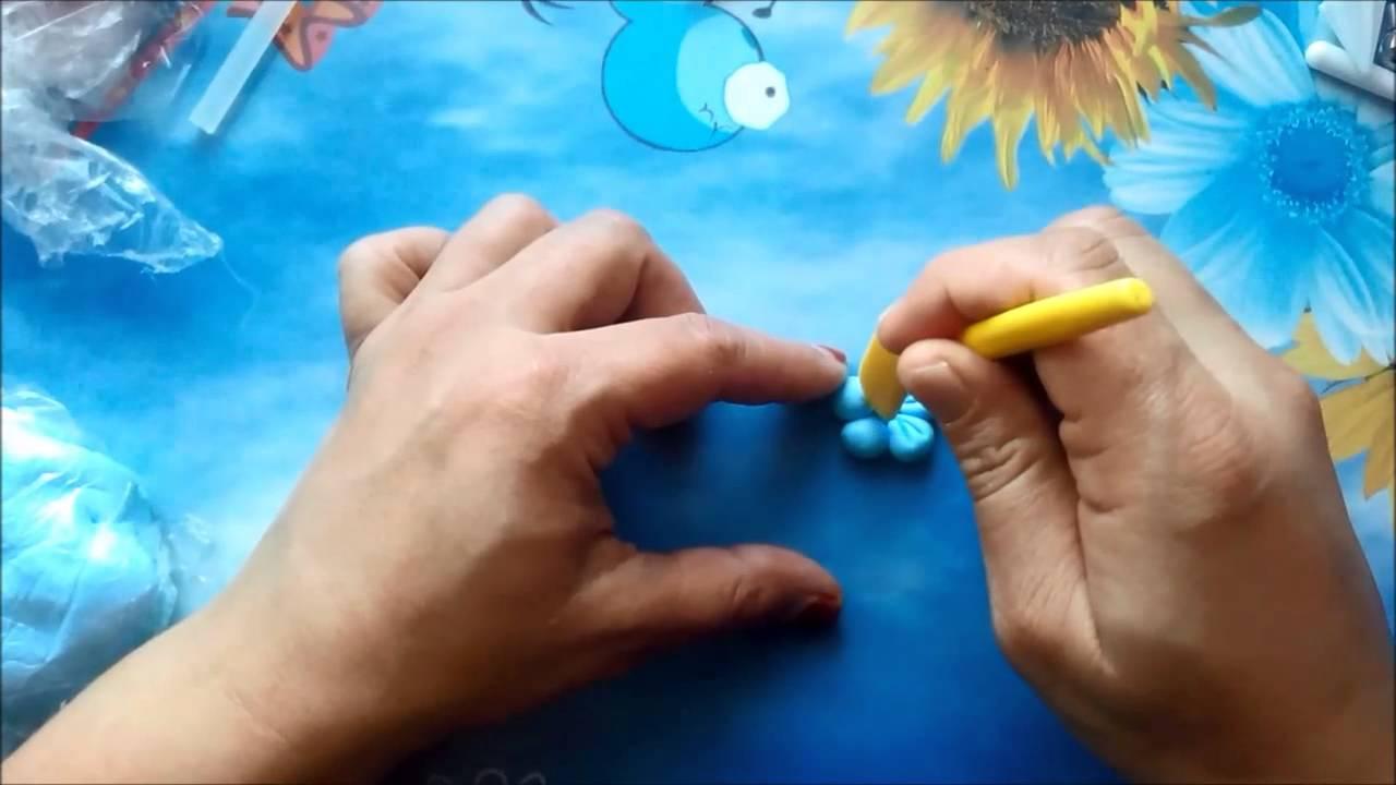 Soguk Porselen Hamurundan çiçek Yapimi Youtube