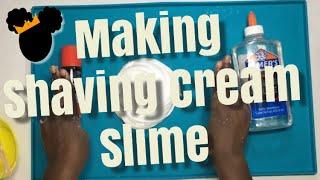 Making Slime with Shaving Cream