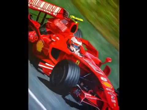 The Flow of Ferrari Speed painting by Allowistic Artist Vincent Strader