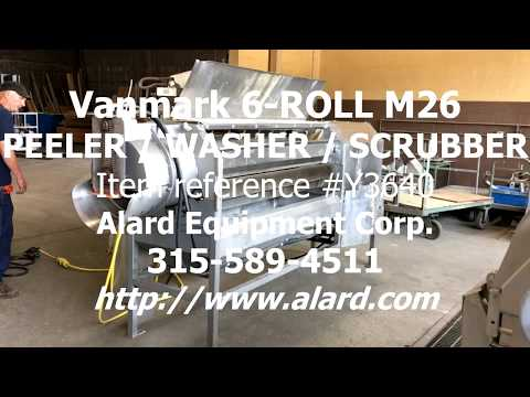 Vanmark 6 Roll Abrasive Peeler Scrubber Brush Washer, Alard Item Y3640