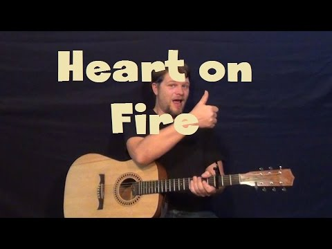 Heart On Fire Jonathan Clay Easy Guitar Lesson Strum Chord How To
