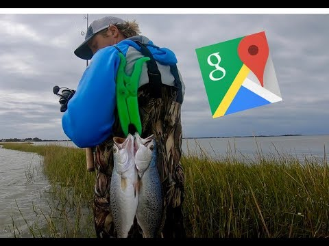 Google Maps Fishing Challenge Found EPIC Wade Fishing Spots (Inshore Slam)