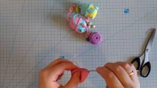 МК  Погремушка-прорезыватель совушка. Вязание крючком. Слингобусы. Ч.1