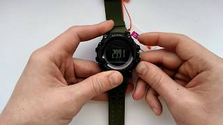 Годинник Skmei 1358 налаштування часу, калібрування компаса, альтиметра, барометра, інструкція російською