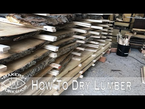 How I Dry Wood Fast // Tips And Tricks