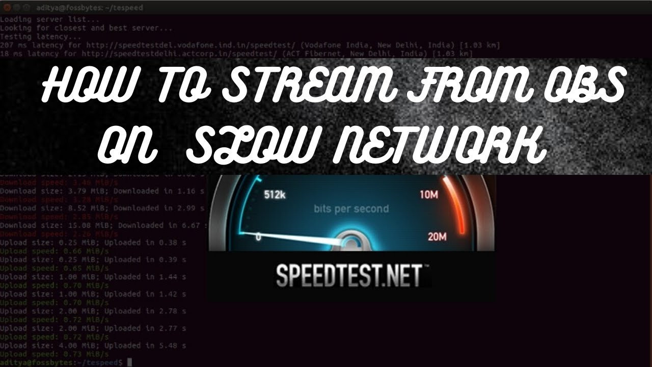 foto de Low upload speed: how to find the right settings! For Streaming ...