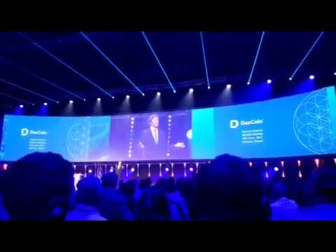Michael Mathias on stage at Dascoin Event Poland 2017