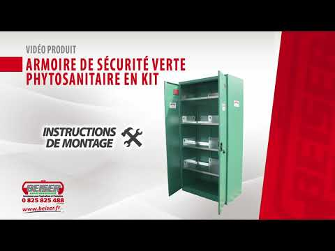 Armoire de sécurité verte phytosanitaire en kit (Montage)