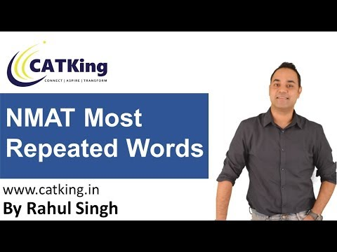 NMAT  Most Repeated Words