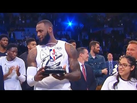 LeBron James Wins MVP of the 2018 NBA All-Star Game vs Team Stephen Curry!