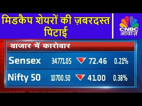 Markets Top 20 | मिडकैप शेयरों की ज़बरदस्त पिटाई | 16th Jan | CNBC Awaaz