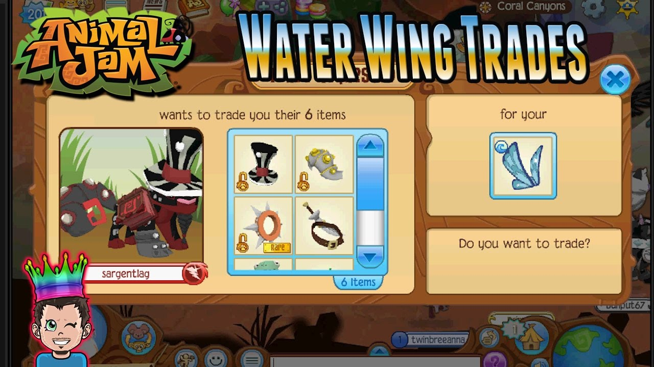 New Butterfly Water Wing Trade Attempts Animal Jam Toy