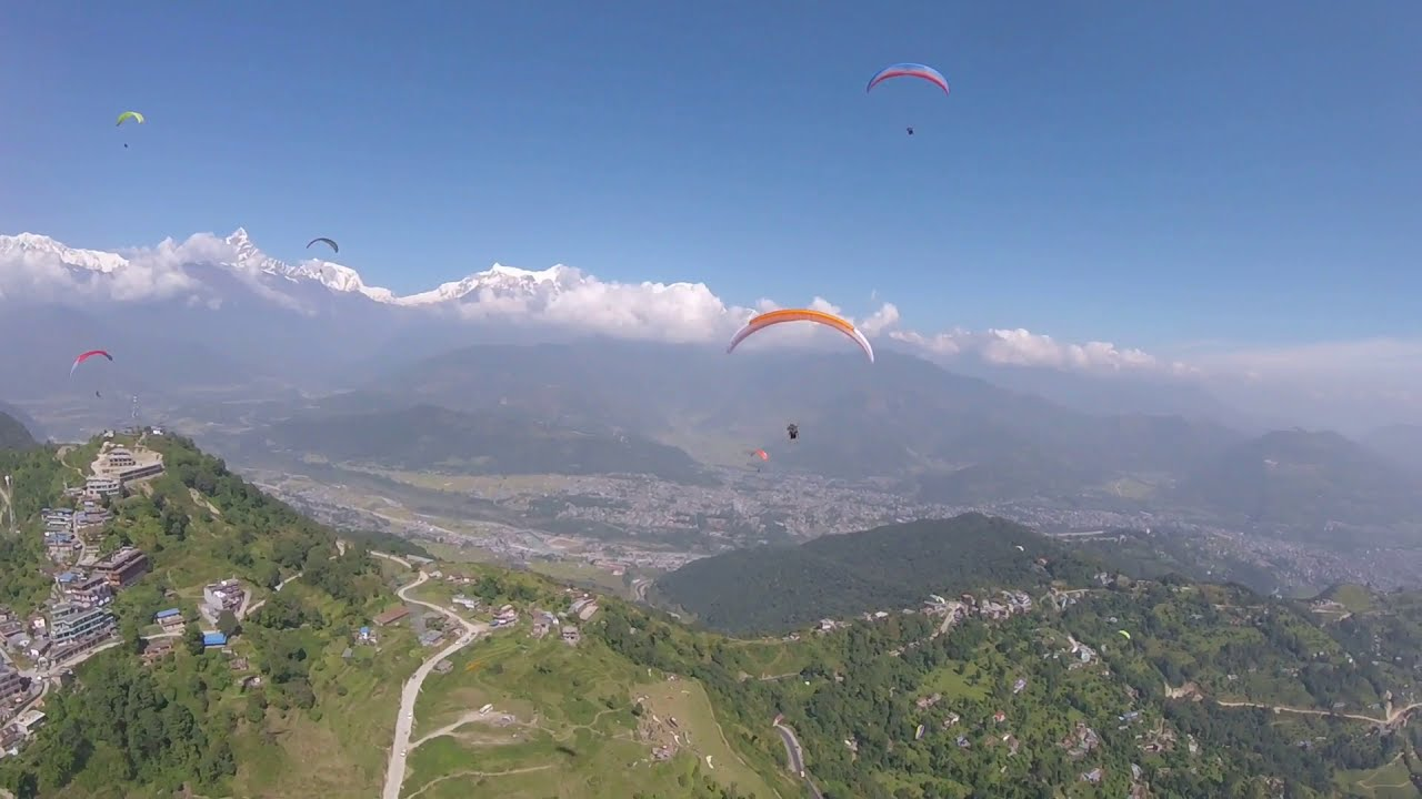 Paragliding in Pokhara Nepal,Visit Nepal 2020,Fishtail Nepal Paragliding,Awesome Mountain View