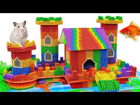 DIY - Build Hamster Castle Stilts On Fish Pond With Magnetic Balls (Satisfying) - Magnet Balls