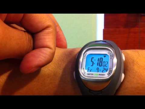 Sportline heart rate watch