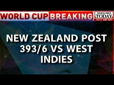 New Zealand Beat 393 Runs Against West Indies In Quarter Finals