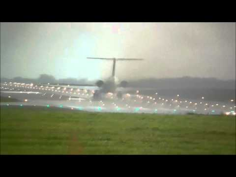 Bulgarian MD 82 *Crazy Weather* Takeoff at Hannover