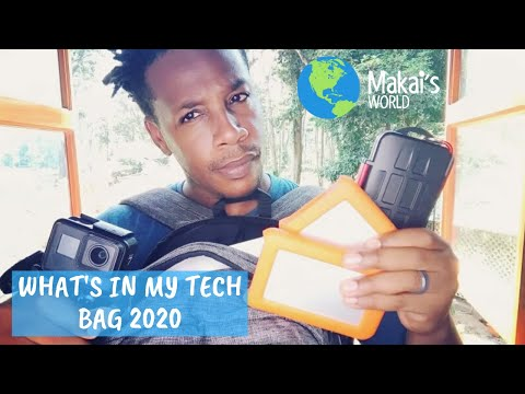 What's In My Tech Backpack [2020] - Beginner Vlogger Travel Gear - Makai's World