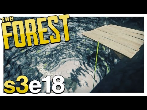 UPDATE! JUMPING DOWN THE SINKHOLE & CLIFF PLATFORMS! | The Forest Gameplay S3E18 (Alpha v0.36)