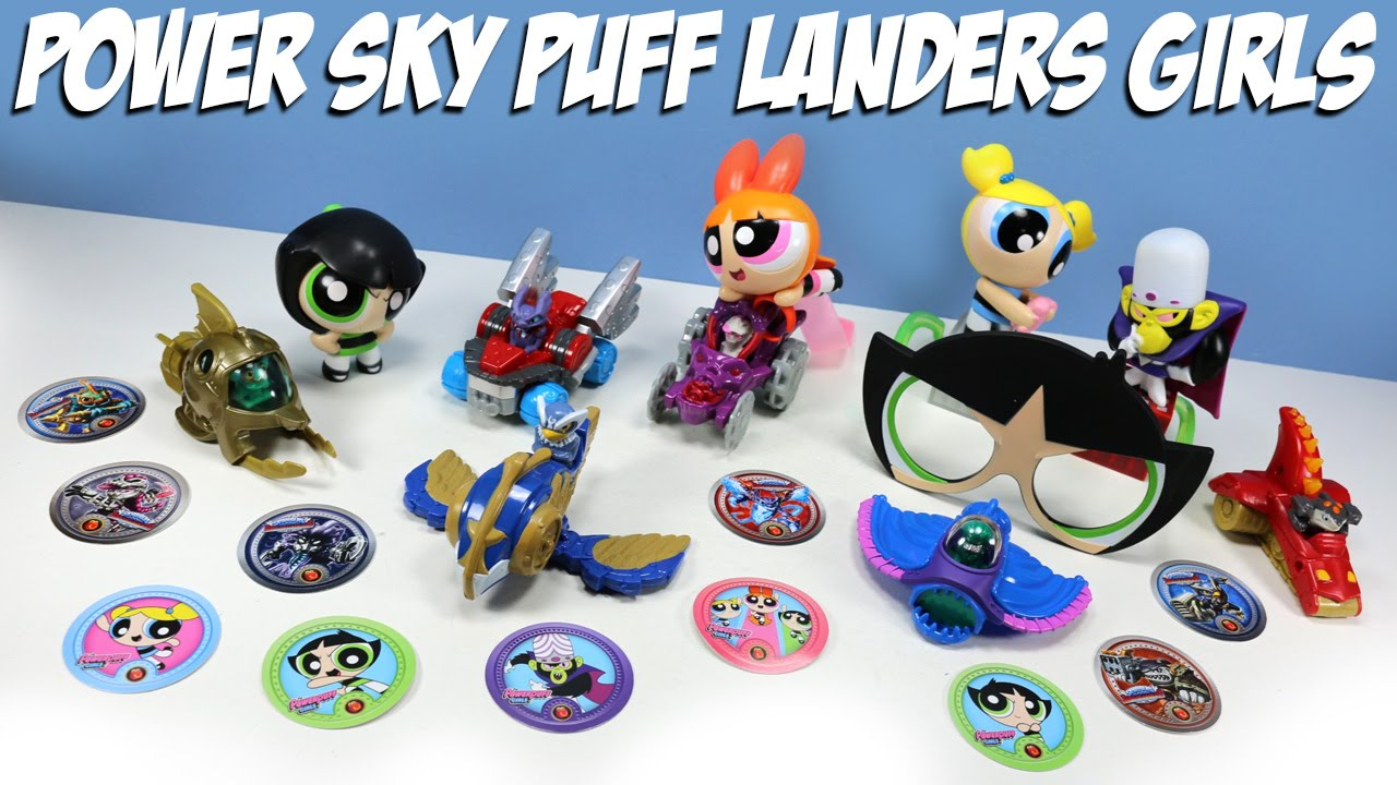 skylanders superchargers and powerpuff girls mcdonalds happy meal