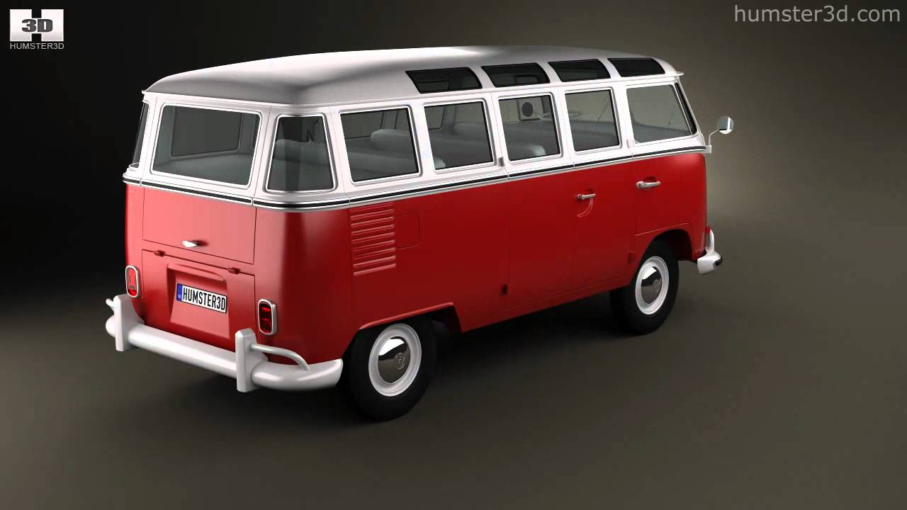 volkswagen transporter t1 1950 by 3d model store humster3d. Black Bedroom Furniture Sets. Home Design Ideas