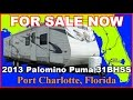 2013 Forest River Palomino Puma 31BHSS Used Travel Trailer, Florida, Punta Gorda, Ft Myers