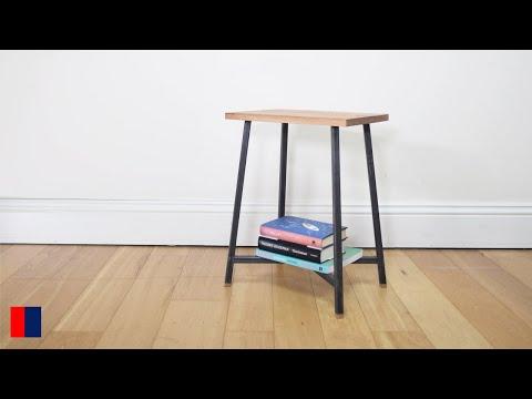 Making a Oak & Steel Side Table WITHOUT WELDING [63]