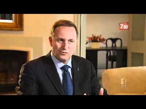 NZ Prime Minister John Key Speaks With 7.30