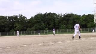2015年8月23日(日)大森球場 投手は松代大、ドージーズ4回裏の守備を動画...