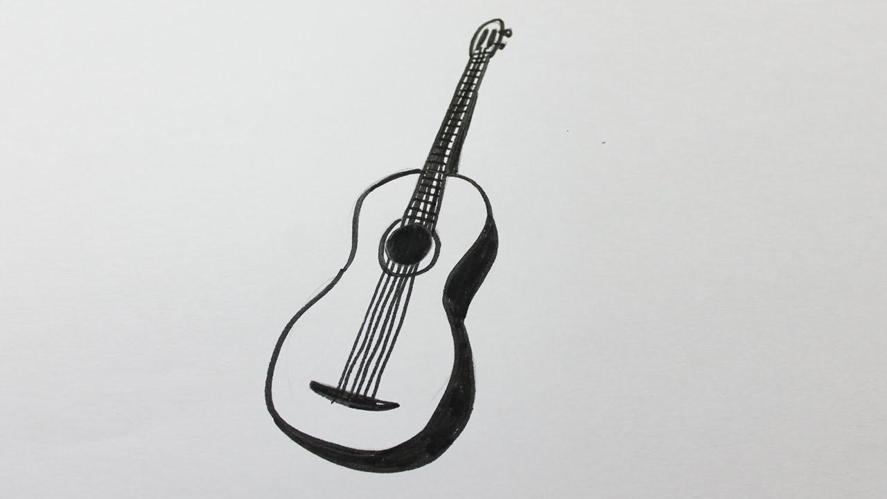 Comment dessiner une guitare youtube - Comment dessiner une guitare ...