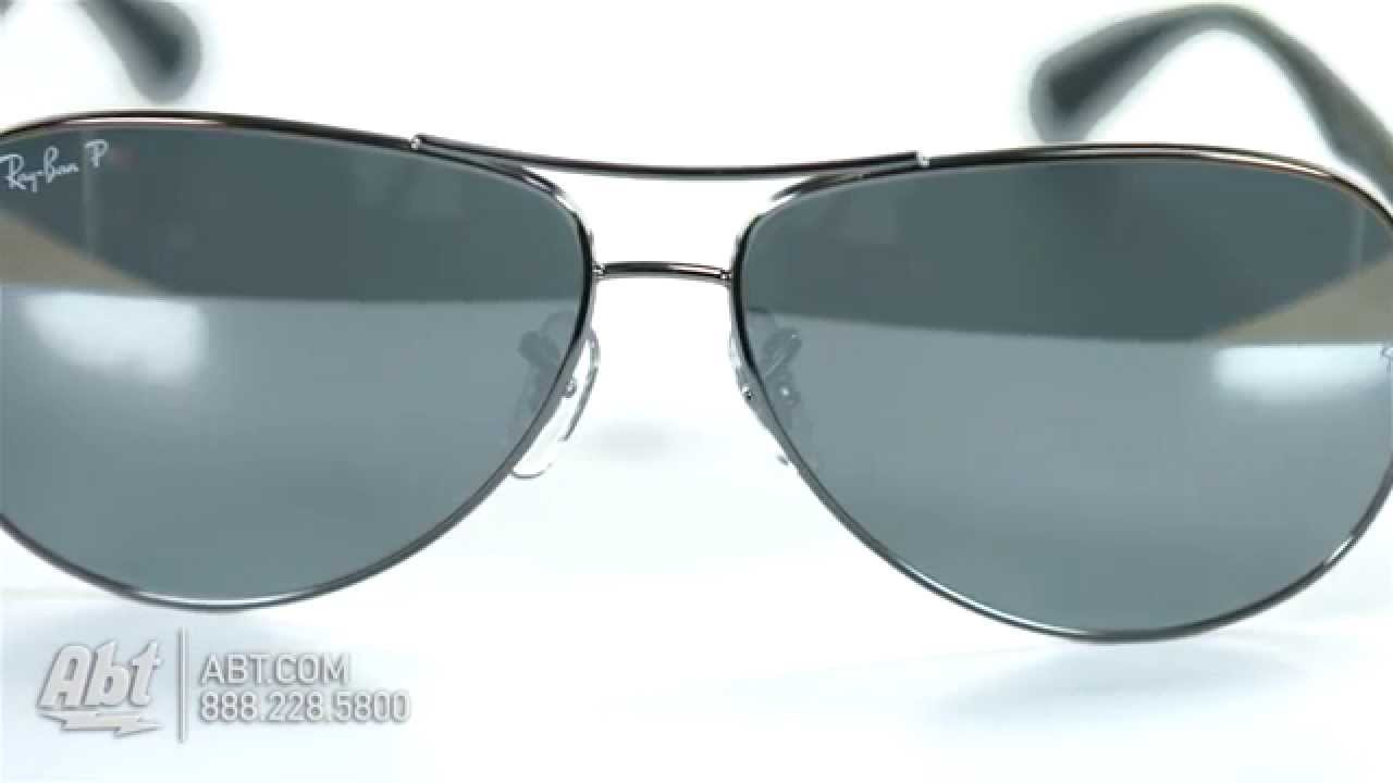 17dd8718bb5 Ray-Ban Polarized Blue Mirror Double Brow Bar Mens Sunglasses RB8313 004 K6  61- Overview - YouTube