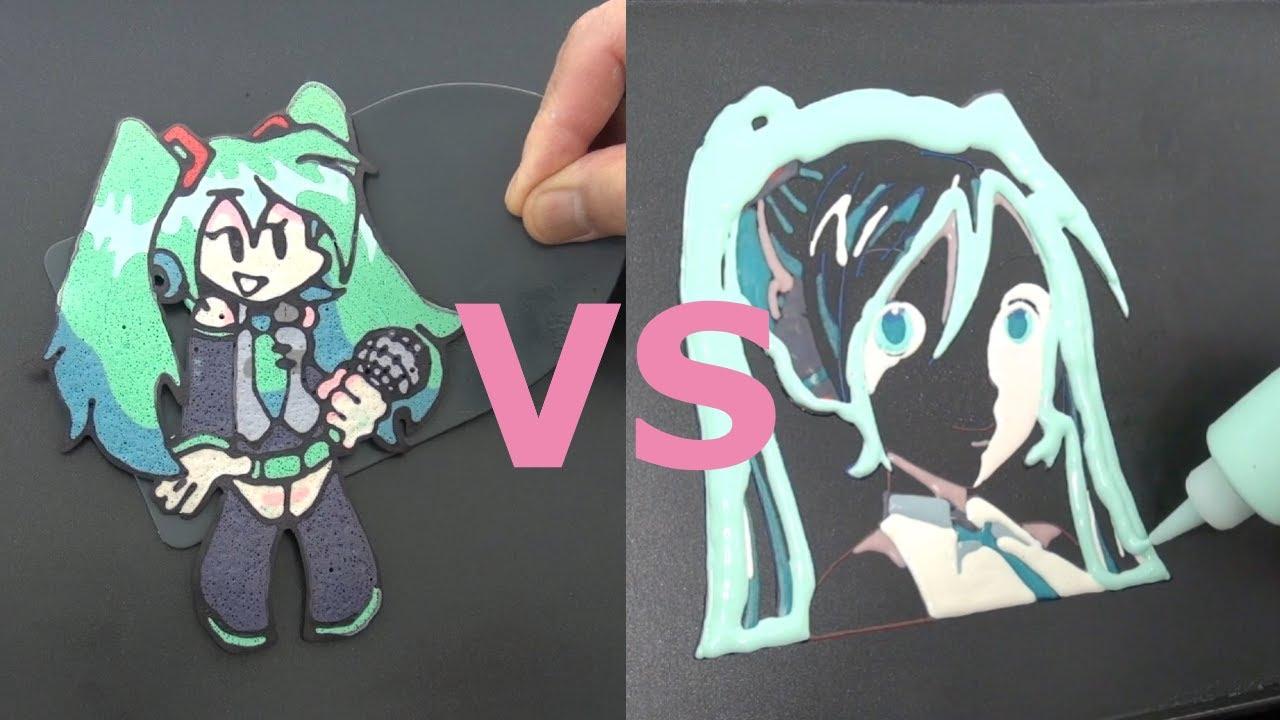 Friday Night Funkin' Miku VS Original Miku Pancake Art