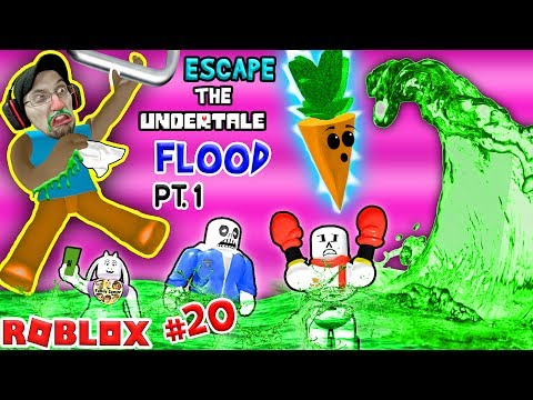 Thumbnail: ROBLOX FLOOD ESCAPE!! Undertale Drowning Sick Town! (FGTEEV #20 Gameplay / Skit)