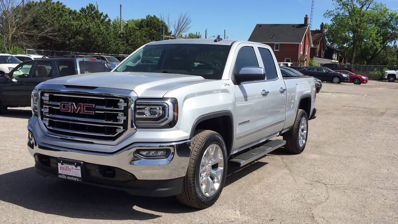2016 gmc sierra 1500 slt double cab 4wd silver oshawa on. Black Bedroom Furniture Sets. Home Design Ideas