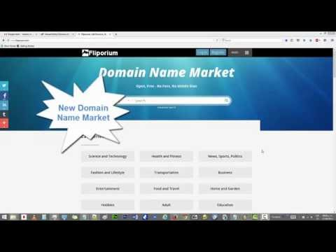 Fliporium! Buy and Sell Domains Commission Free