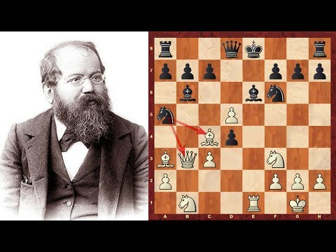 Brilliancy! Chess game with Rook odds: Wilhelm Steinitz vs Rock : London (1863), London ENG