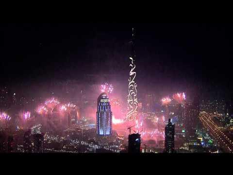 Dubai New Year's Fireworks 2015 HD 1080p