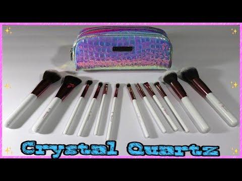 BH Cosmetics Crystal Quartz Brush Set Review / Demo